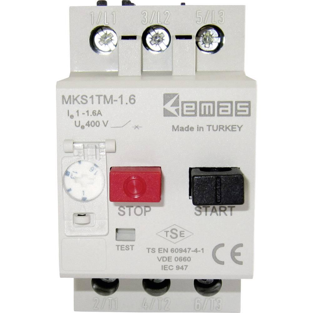 Stikalo za zaščito motorja 400 V/AC 1.6 A EMAS MKS1TM-1.6 1 kos