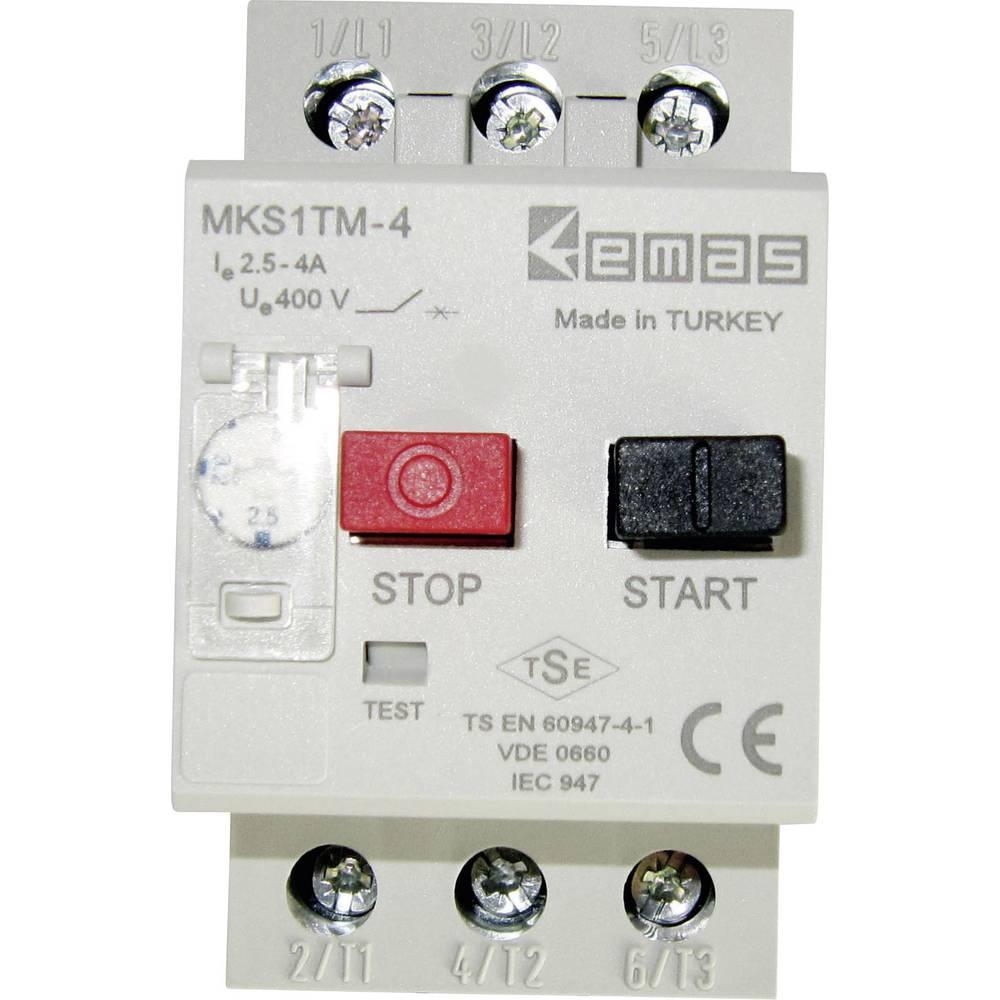 Stikalo za zaščito motorja 400 V/AC 4.0 A EMAS MKS1TM-4 1 kos