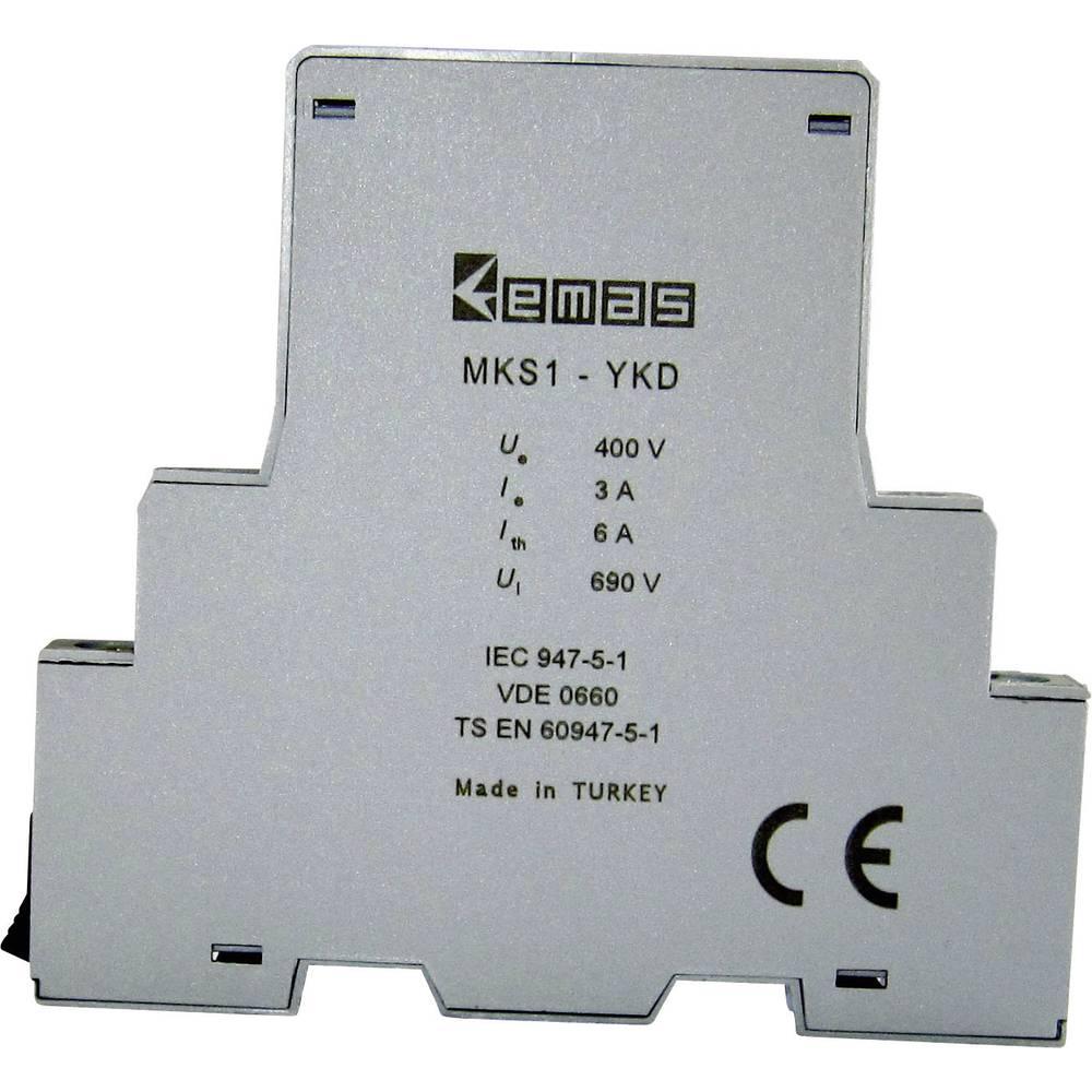 Pomožno stikalo, 400 V/AC 3 A 1 zapiralno 1 odpiralni EMAS MKS1-YKD01 1 kos