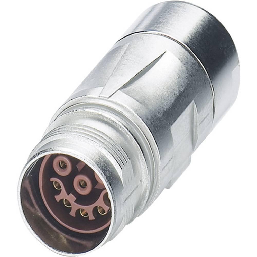 M17 Compact kobling stik Phoenix Contact ST-08S1N8A9K02S Sølv 1 stk