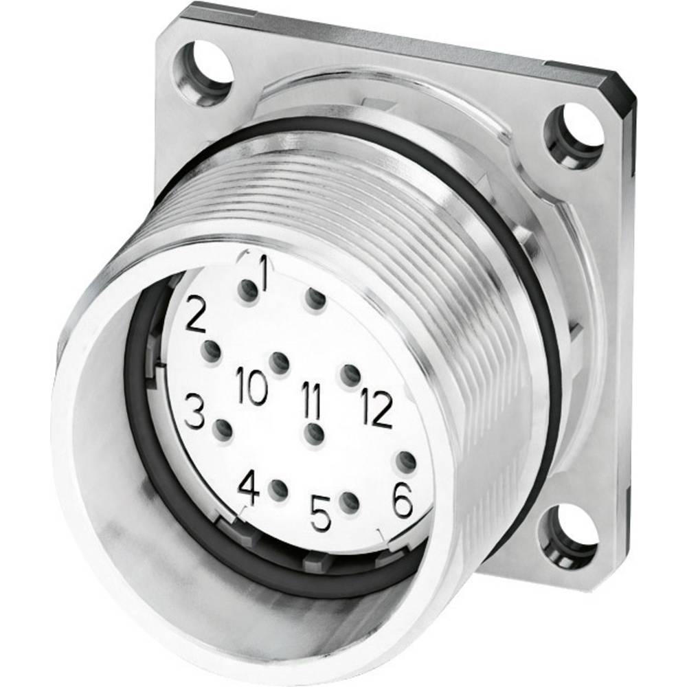 M23 Konektor za naprave, pritrditev s prirobnico CA-17S1N8A2S00 srebrna Phoenix Contact vsebina: 1 kos