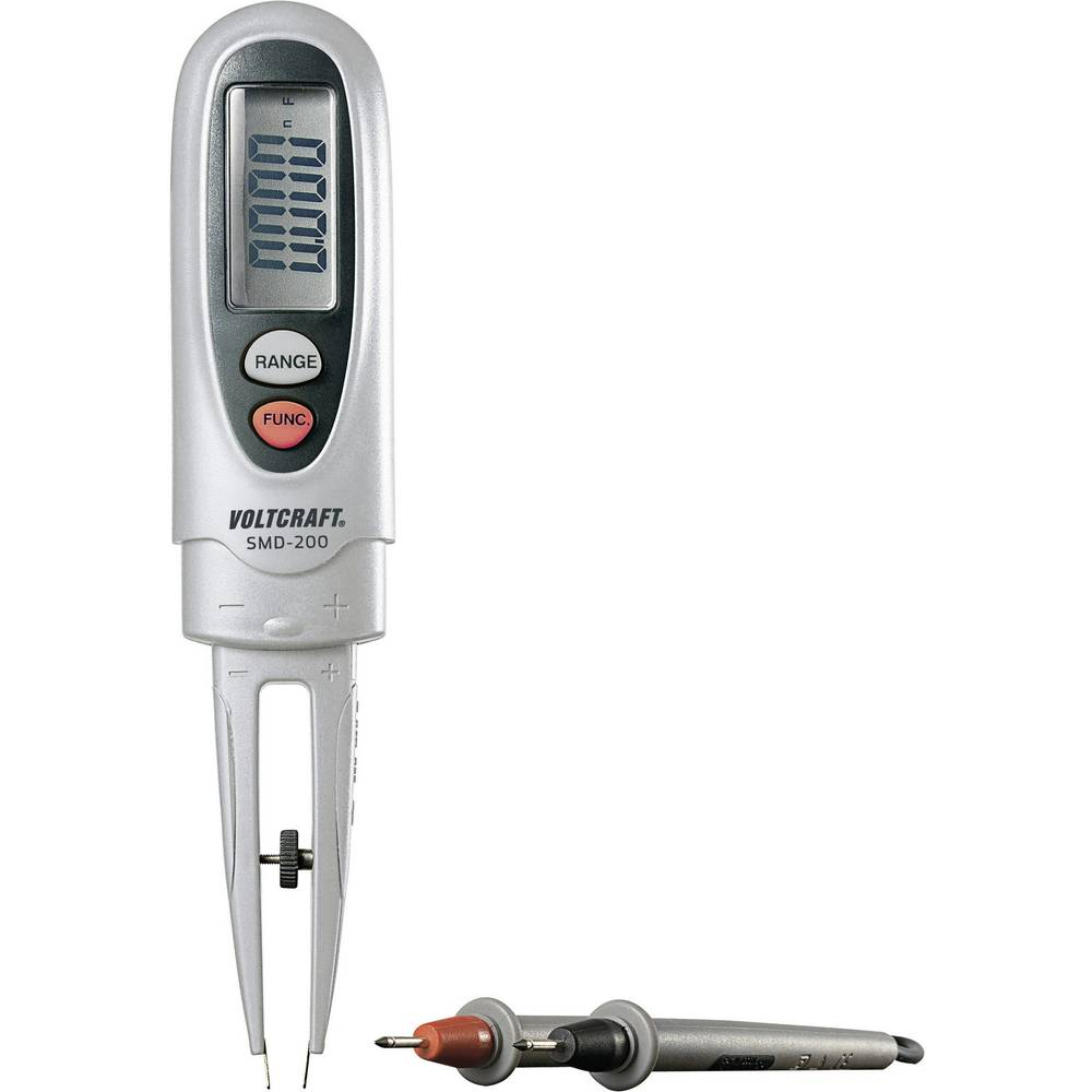 Tester komponent, digitalni VOLTCRAFT SMD-200 kalibracija narejena po: delovnih standardih, CAT III 600 V število znakov na zasl