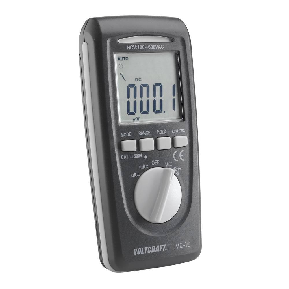 Ročni multimeter digitalni VOLTCRAFT VC-10 kalibriran po: ISO CAT III 600 V prikazovalnik (št. mest na zaslonu): 4000