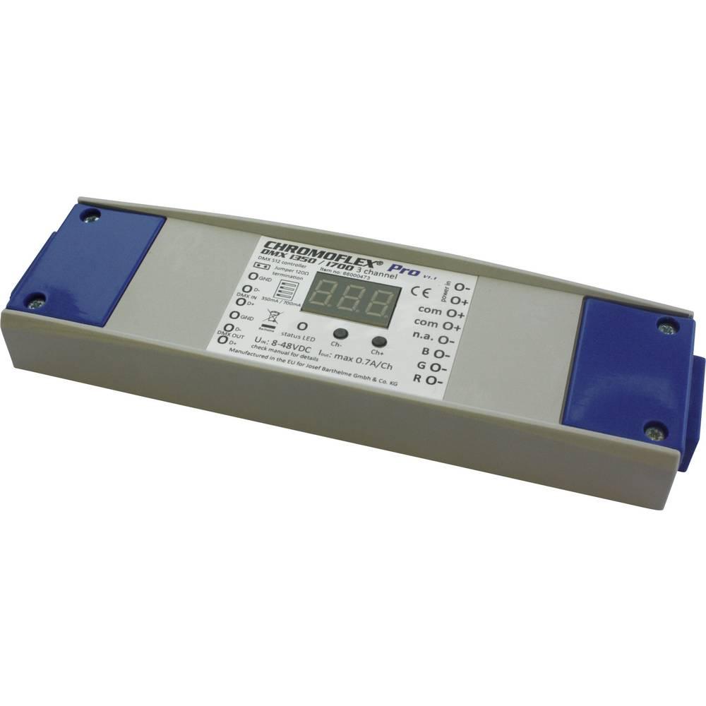 LED zatamnjivač Barthelme CHROMFLEX® Pro DMX i350/i700 3-kanalni V1.1 180 mm 52 mm 22 mm