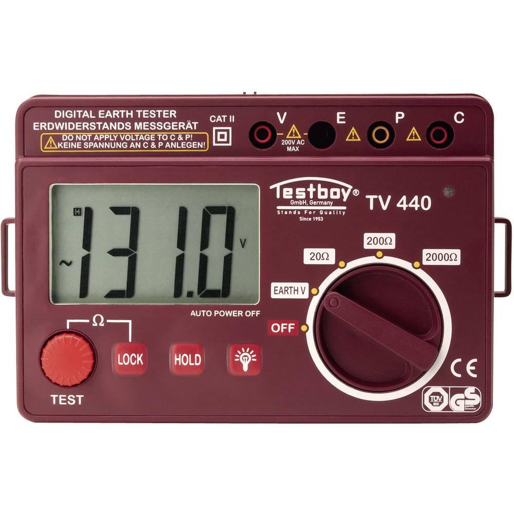 Kal.-ISO Merilnik ozemljitve, merilnikozemljitvenega upora Testboy TV440N, CAT II 600 V