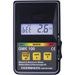 Merilnik vlage v materialu Greisinger GMK 100 vlažnost v zgradbah (merilno območje): 0 do 8 % vol vlažnost v lesu: 0 do 100 % vo