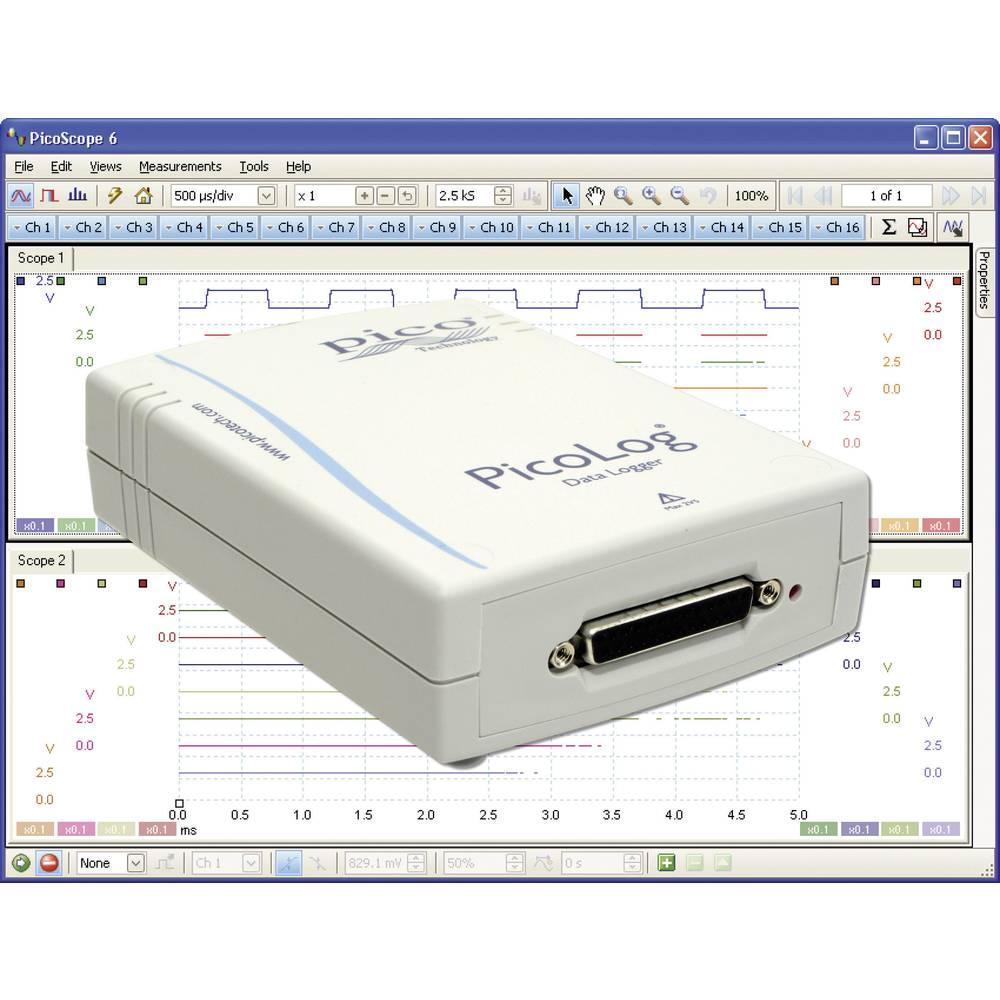 pico PicoLog 1012 0 - 2.5 V/DC USB multi-kanalni napetostni shranjevalnik podatkov, zapisovalnik meritev PP546