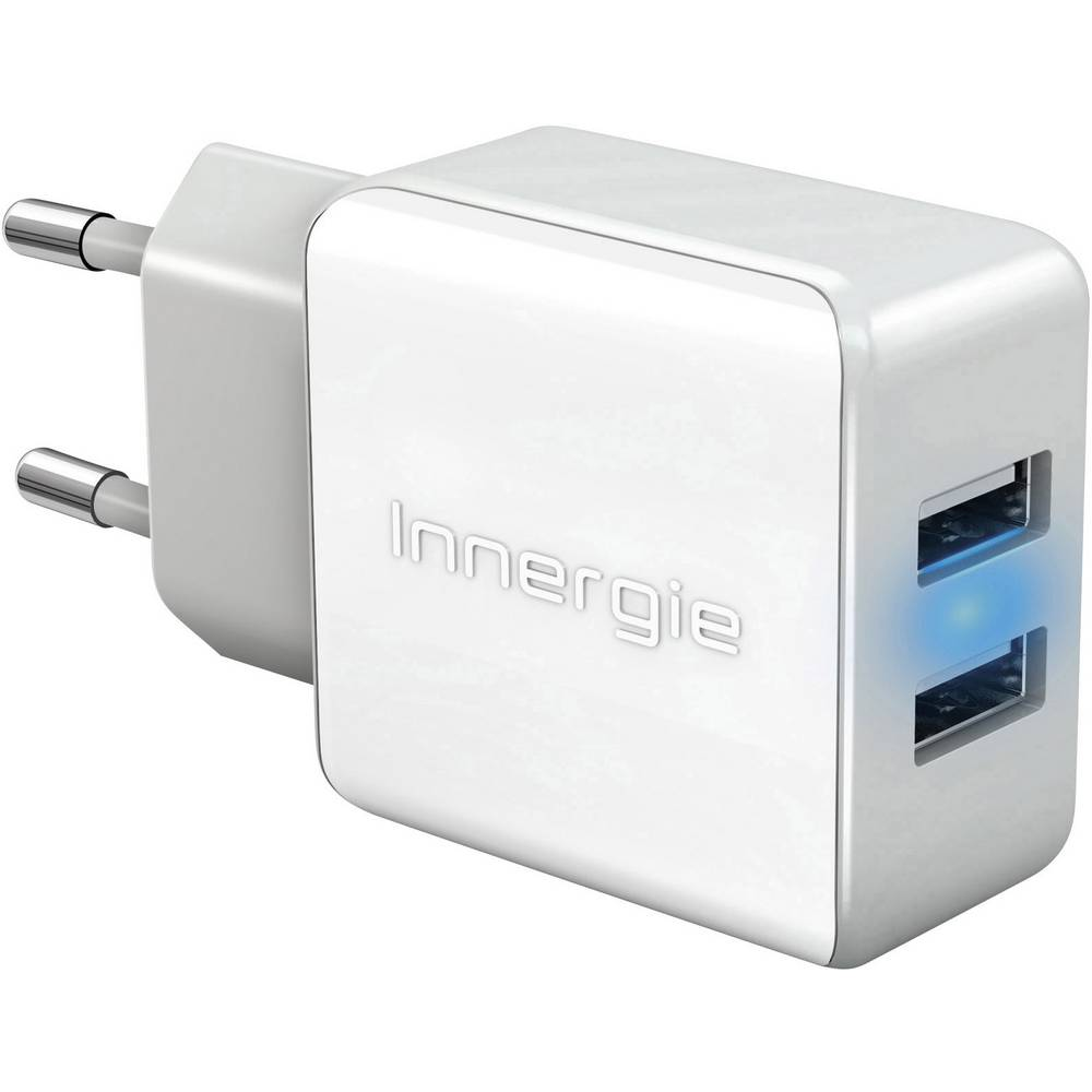 USB-oplader Innergie mMini AC 21 Duo ADP-21AW CAD Stikdåse Udgangsstrøm max. 2100 mA 2 x USB (value.1390762) Auto-Detect