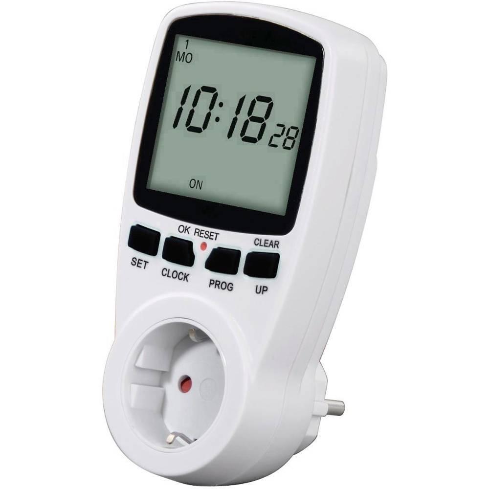 Vremenski uklopni sat za utičnicu 00108838 Hama digitalni, tjedni program, 3500 W, IP20