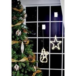 Okenska dekoracija z motivom snežaka, Polarlite, LED, prozorna, LBA-50-009
