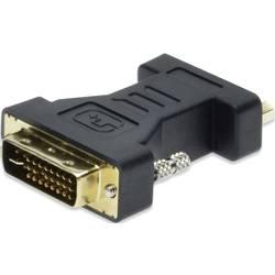 DVI / VGA Adapter [1x DVI-vtič 24+5pol.   1x VGA-vtičnica črn nastavljiv, pozlačeni kontakti ednet