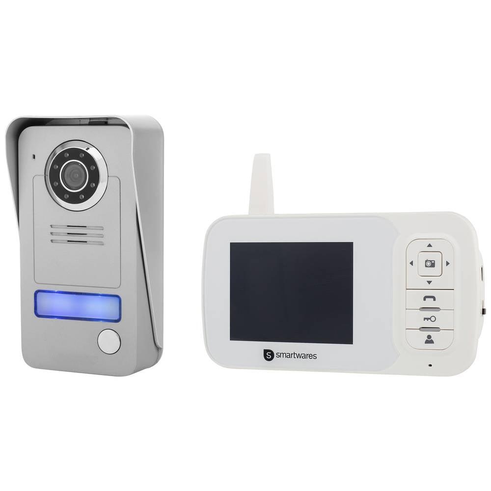 Video portafon, bežični komplet Smartwares VD38W 1 obiteljska kuća, sivi, srebrni