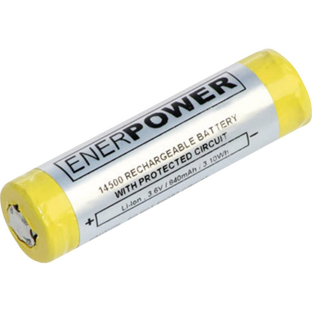 Litij-ionski akumulator 14500, Enerdan, 3,6 V, 800 mAh, (ØØ x V) 14 mm x 48,8 mm