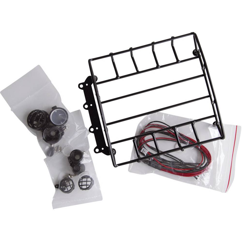 Strešni prtljažnik s 4 LED-žarometi Amewi, črna, 010-20417