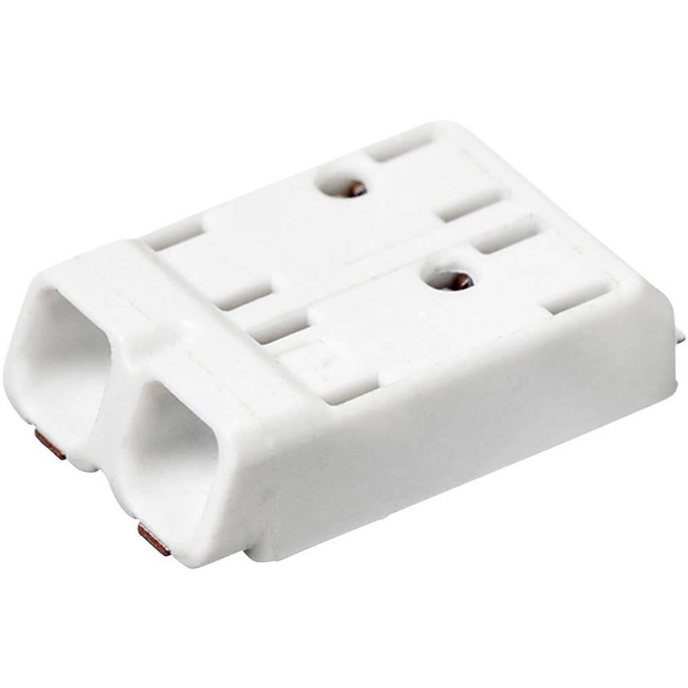 Fjederkraftsklemmeblok Adels-Contact SMDflat 345/2 0.75 mm² Poltal 2 Hvid 1 stk