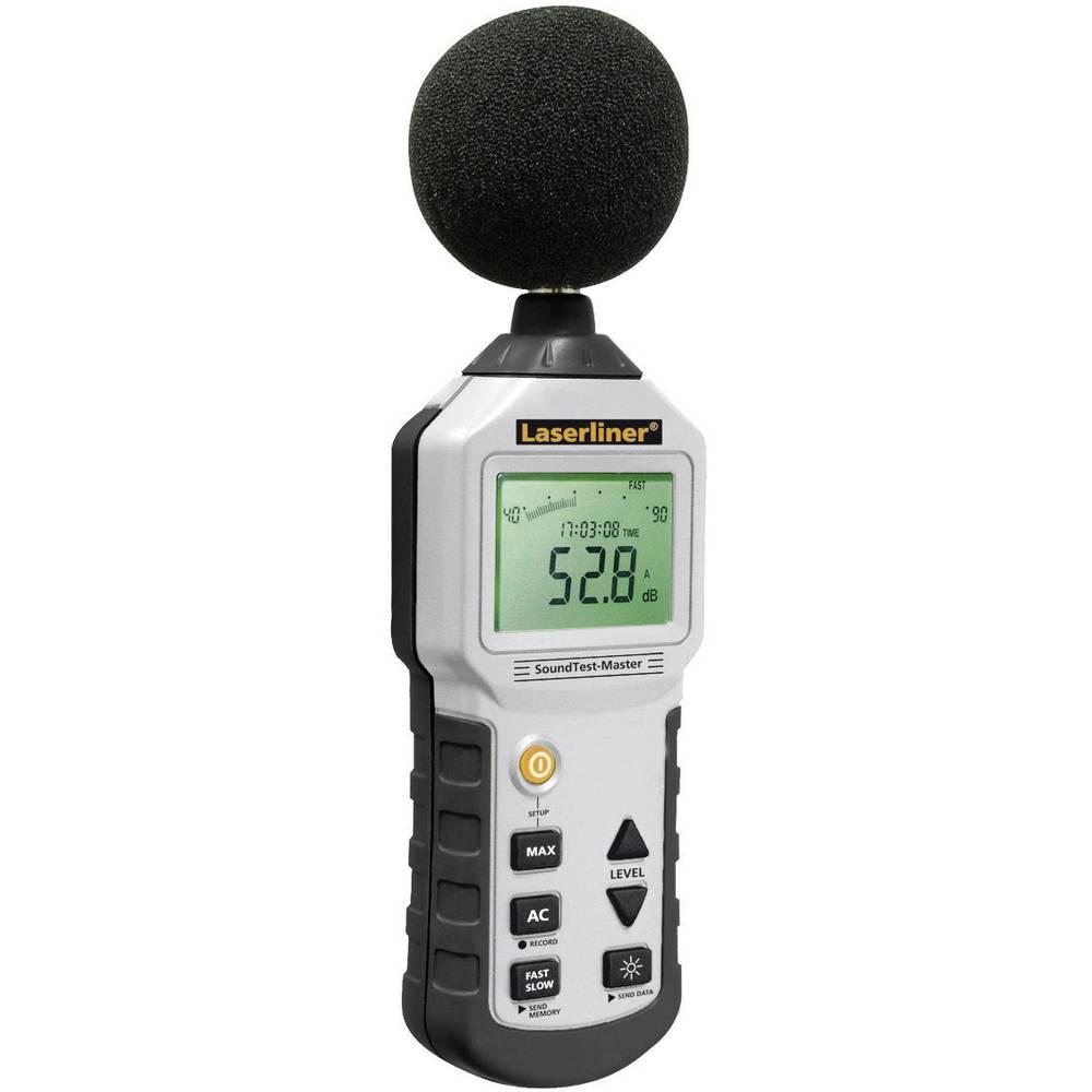 Merilnik hrupa Zapisovalnik podatkov Laserliner SoundTest-Master 31.5 Hz - 8000 Hz 30 - 130 dB Tovarniški standardi (lastni)