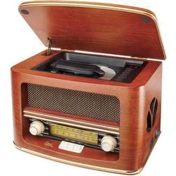 FM Bordsradio Dual NR 1 CD AUX, CD, MW, FM Trä