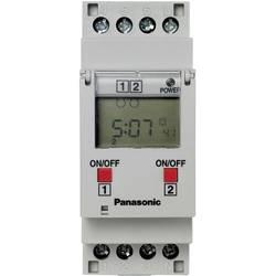 Časovna stikalna ura za DIN letev, delovna napetost: 230 V/AC Panasonic TB6220187 2 x preklopni 16 A 250 V/AC tedenski program