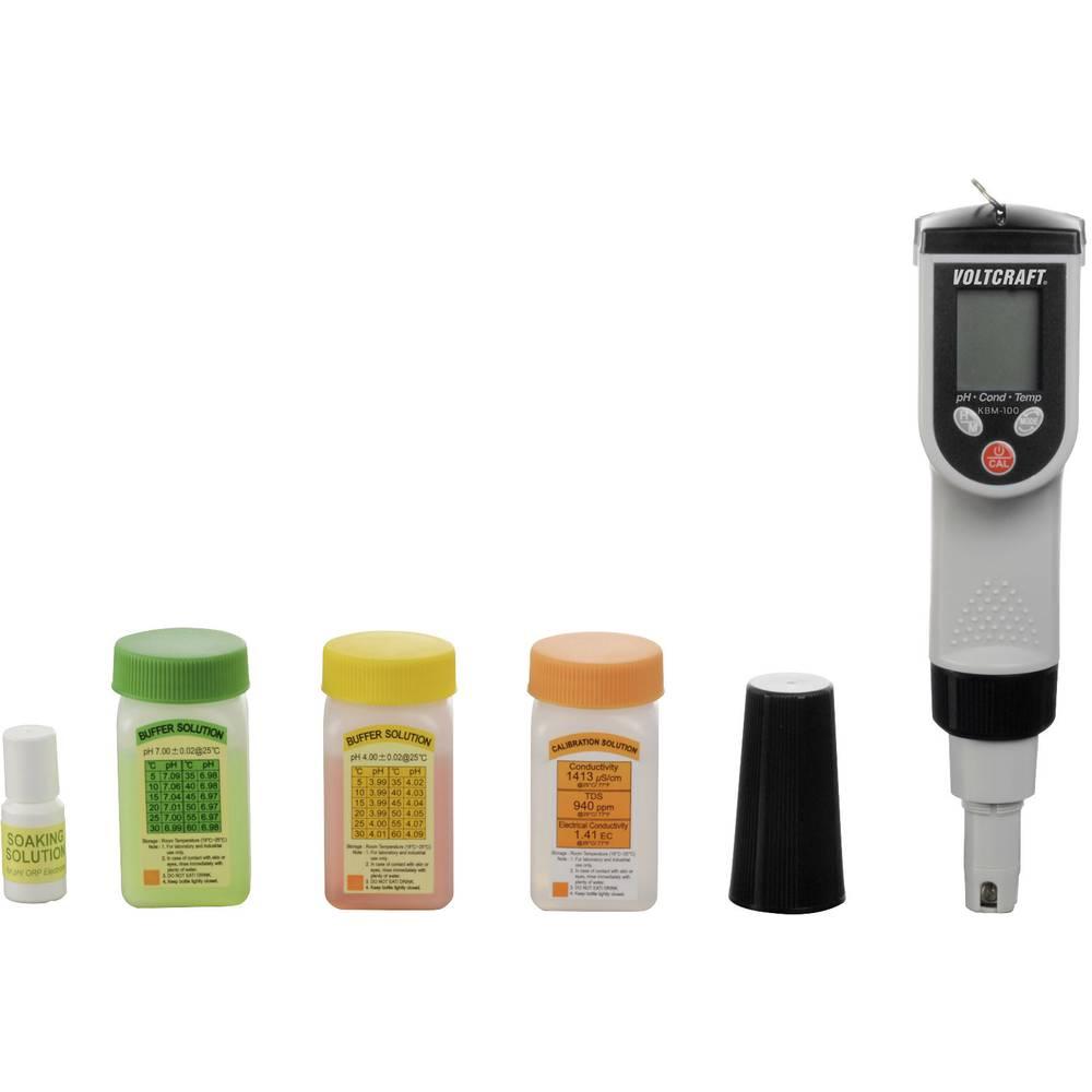 VOLTCRAFT KBM-100 kombiniran merilnik KBM-100 ±0.01 pH -2 do 16 pH 0 do 90 °C kalibriran po tovarniškem standardu