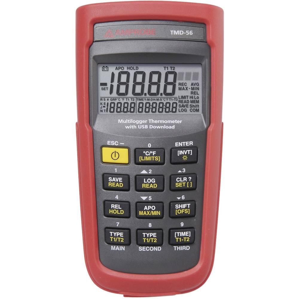 Mjerač temperature Beha Amprobe TMD-56 -50 Do +1350 °C Tip tipala E, J, K, N, R, S, T Kalibriran po: Tvornički standard (vlastit