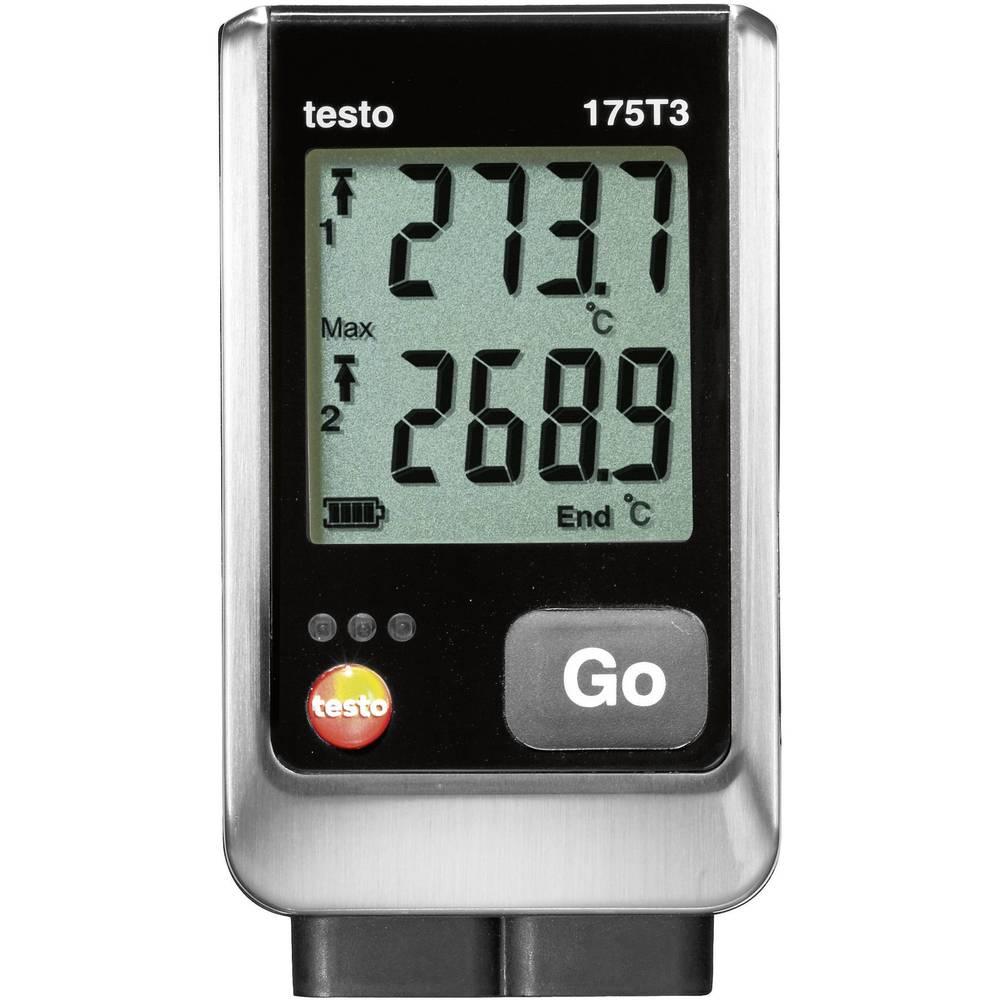 Zapisovalnik podatkov o temperaturi testo 175 T3 merjenje temperature -50 do 1000 °C kalibracija narejena po delovnih standardih