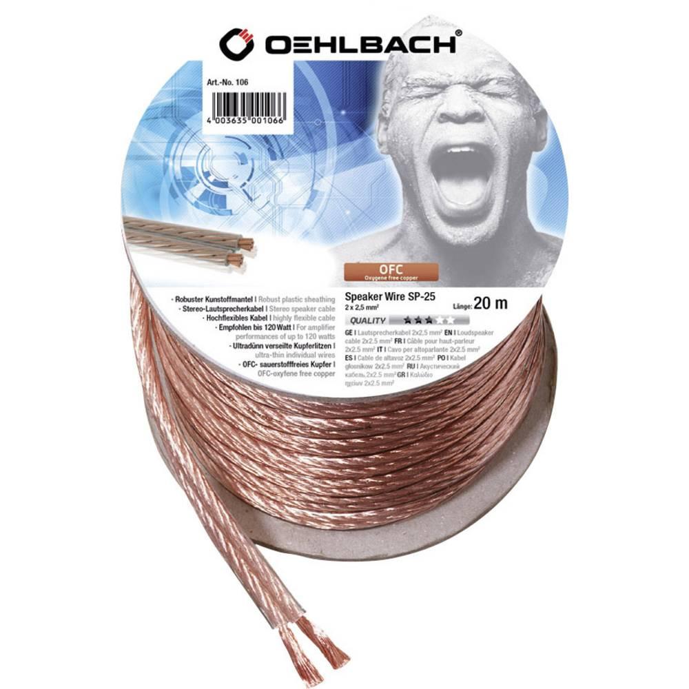 Kabel za zvočnik 2 x 2.5 mm transparentni Oehlbach 106 20 m