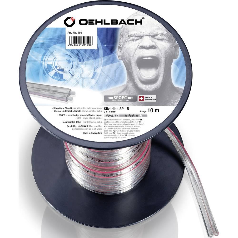 Kabel za zvočnik 2 x 1.5 mm transparentni Oehlbach 180 10 m