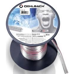 Kabel za zvočnik 2 x 2.5 mm transparentni Oehlbach 186 20 m