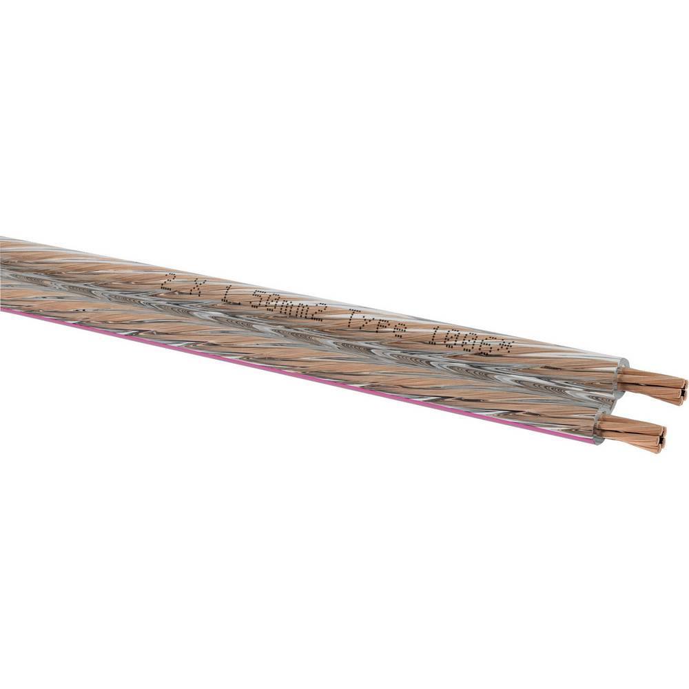 Kabel za zvočnik 2 x 1.5 mm transparentni Oehlbach 1006 metrsko blago