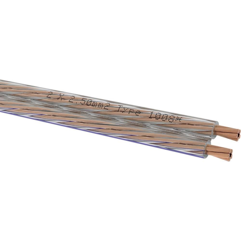 Kabel za zvočnik 2 x 2.5 mm bela Oehlbach 1051 metrsko blago