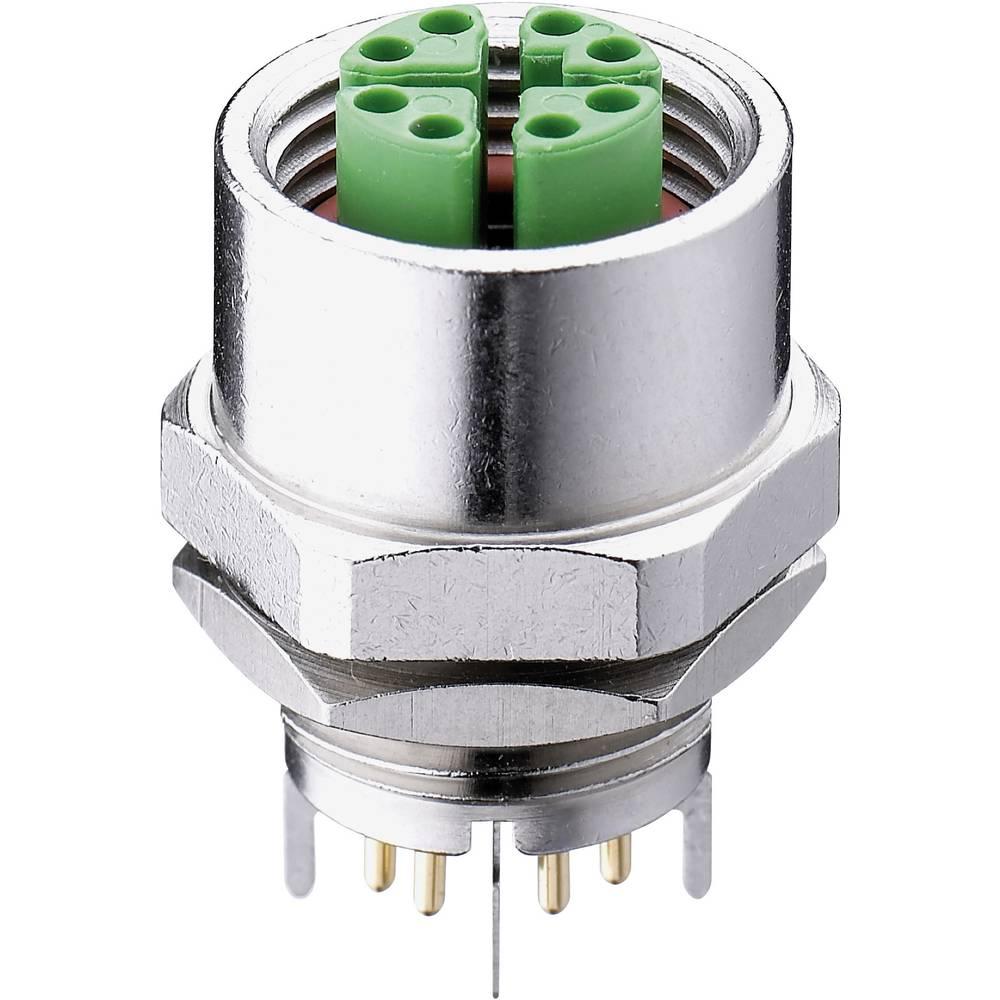 Vgradni vtični konektor,, M12- objemka za sprednjo montažo poli: 8 0986 EFC 651 Belden vsebuje: 1 kos