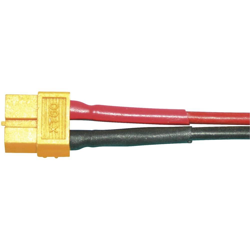 Priključni kabel za akumulator [1x XT60-vtičnica - 1x odprti konec] 100 mm 4.0 mm² Modelcraft