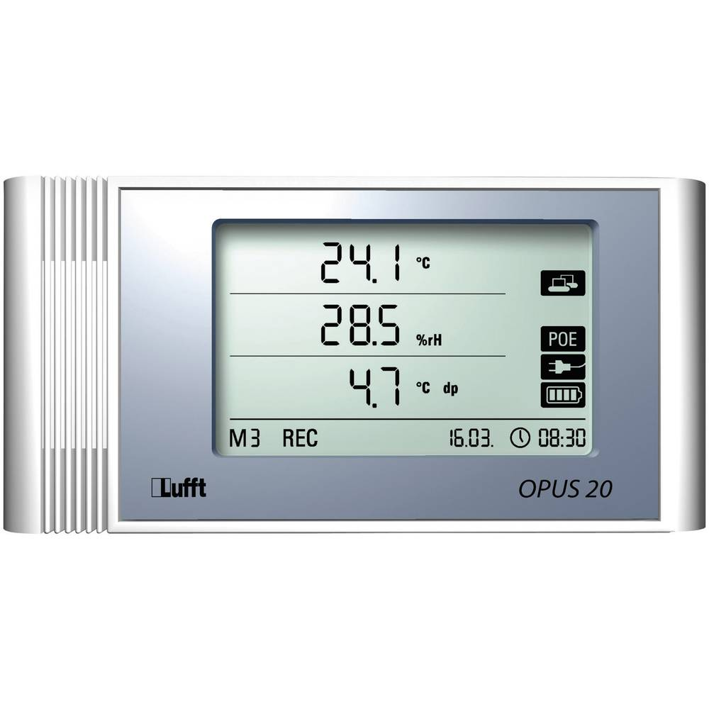 Kalib. ISO-Uređaj za pohranu podataka temperature/vlage Lufft Opus20 THI, 3.200.000 vrijednosti, 0,1 8120.00