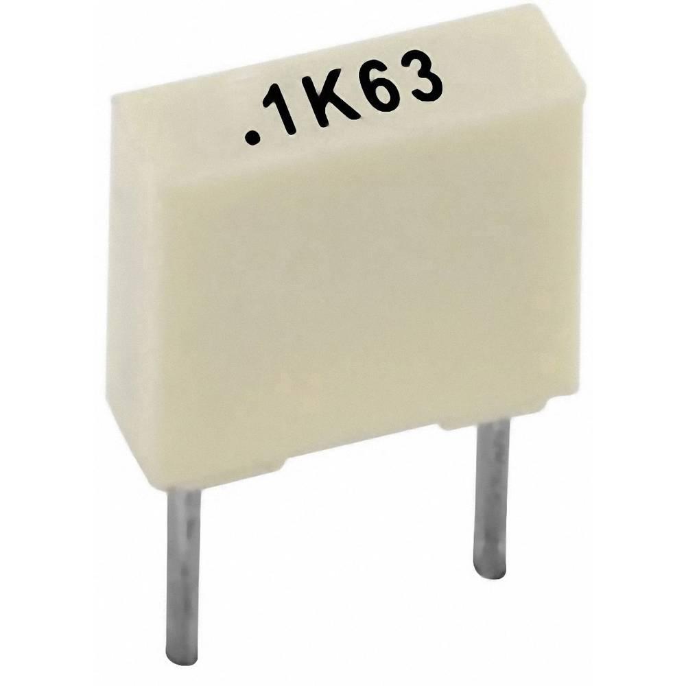 Poliester kondenzator, radijalno ožičen 1 nF 100 V 10 % 5 mm (D x Š x V) 7.2 x 2.5 x 6.5 Kemet R82EC1100AA50K+ 1 kos