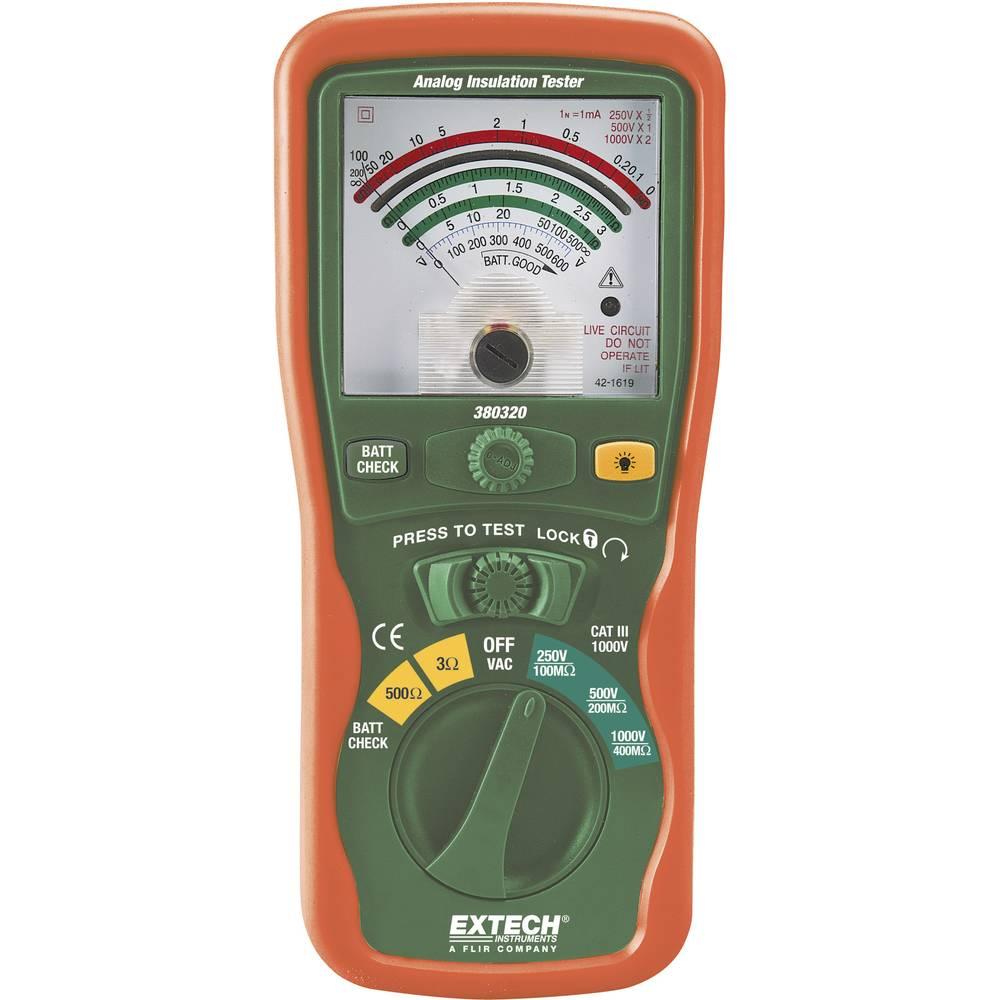 Extech 380320 merilnik izolacije 1000/250/500 V 0 - 400M CAT III 1000 V
