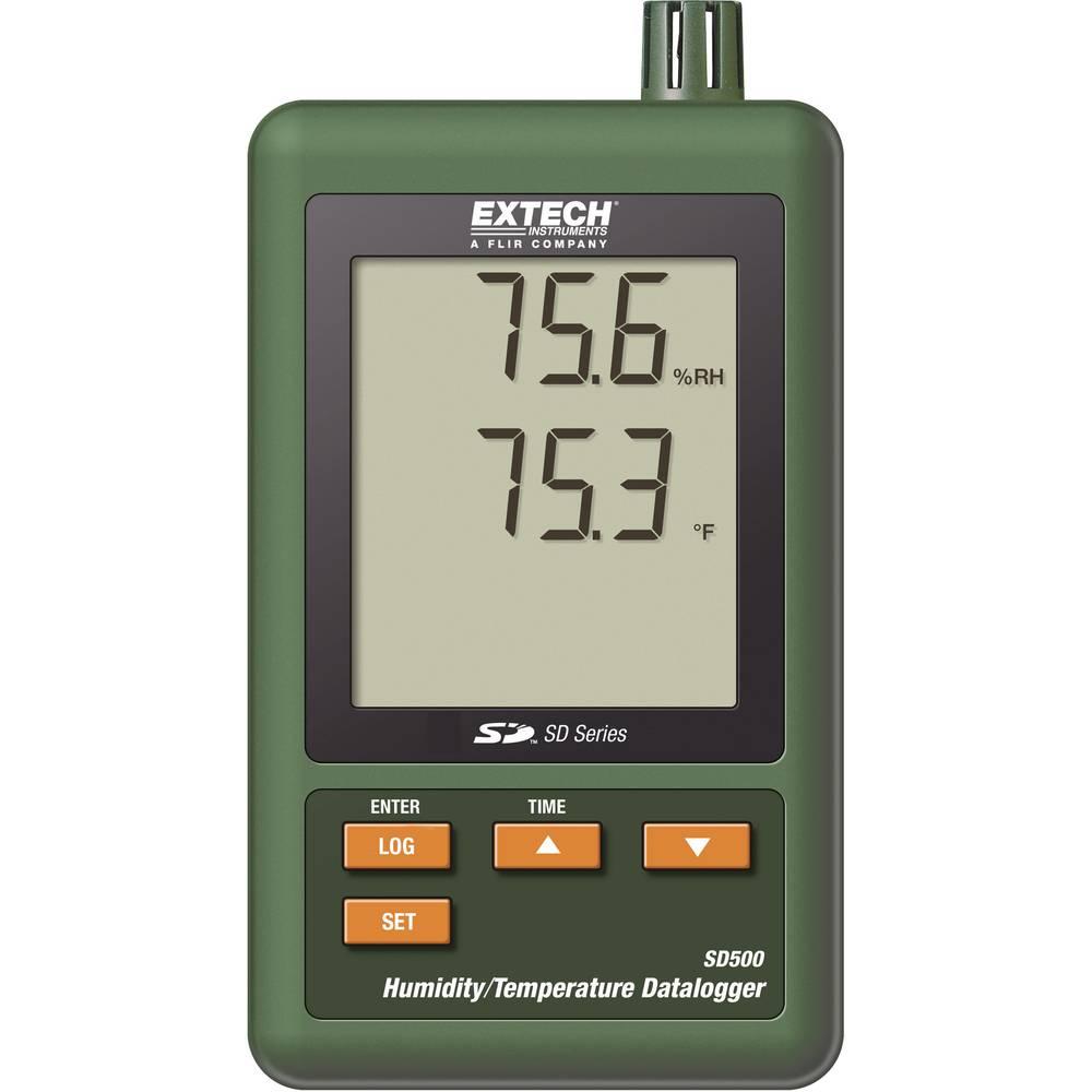 Kalib. ISO-Extech SD500 temperatura/vlaga, uređaj za zapisivanje i pohranu mjernih podataka, 0, 0-50,