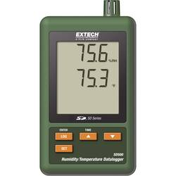 višenamjenski uređaj za pohranu podataka Extech SD500 Mjerena veličina temperatura, vlaga 0 Do 50 °C 10 Do 90 % rF Kalibriran po