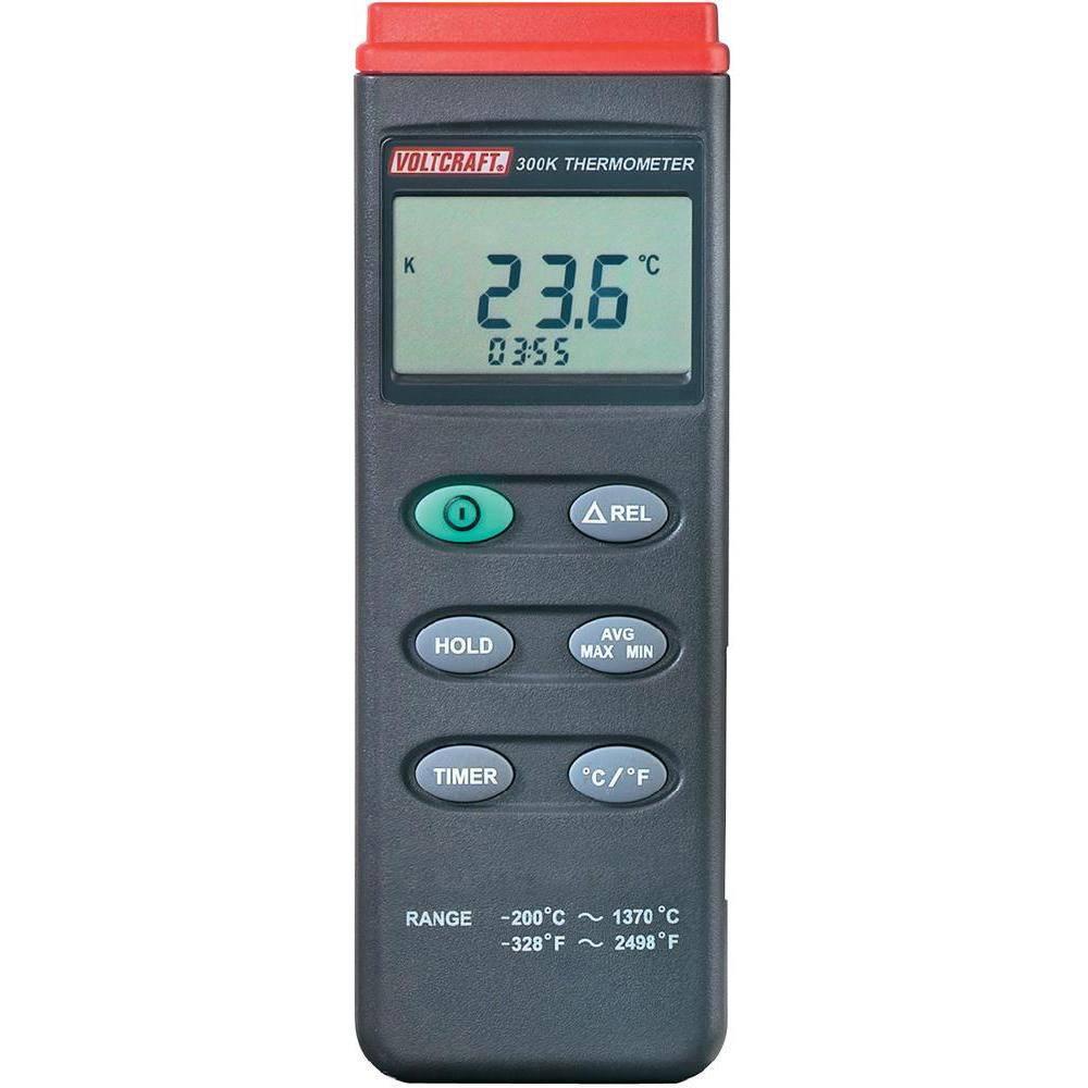 Merilnik temperature VOLTCRAFT K204 -200 do +1370 °C tip senzorja K s funkcijo zapisovanja podatkov kalibriran po: ISO