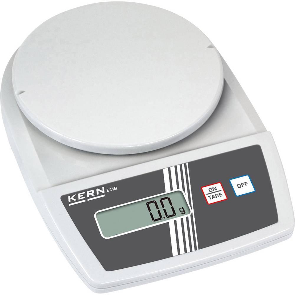 Vaga za pisma Kern EMB 500-1 područje mjerenja (maks.) 0.5 kg mogućnost očitanja 0.1 g napajanje na struju, napajanje na baterij