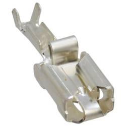 Plosnata utična čahura, zaštita od vibracija, širina utikača: 6.35 mm debljina utikača: 0.81 mm 180 ° neizolirana, srebrne boje
