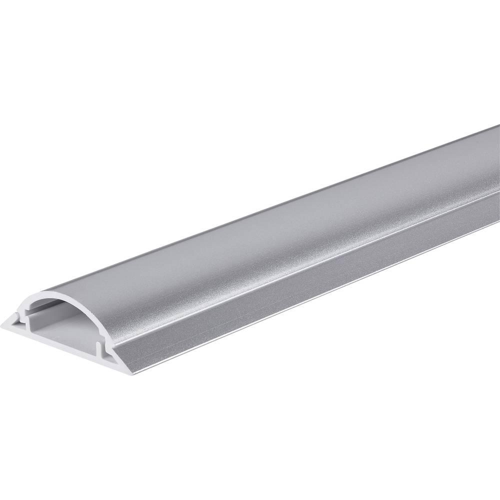 Talna zaščita za kable 1 m (D x Š) 1000 mm x 49.5 mm srebrna Conrad vsebina: 1 kos
