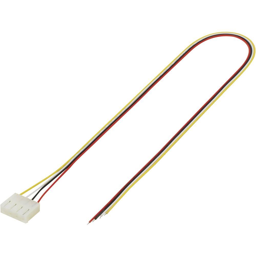 Konfekcioniran finožični vodnik, št.polov skupaj: 4 TRU Components 1244013 mere: 5.08 mm 1 kos