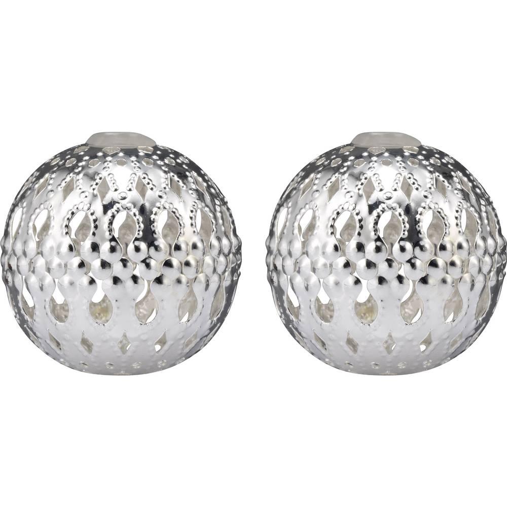Nastavki za svetlobno verigo v obliki kroglic, Polarlite, srebrne barve, DIY-02-005
