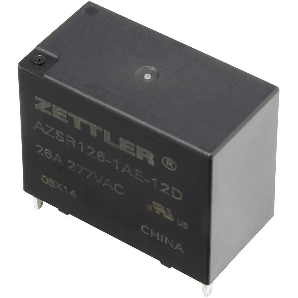 Printrelais (value.1292897) 12 V/DC 31 A 1 Schließer (value.1345270) Zettler Electronics AZSR126-1AE-12D 1 stk
