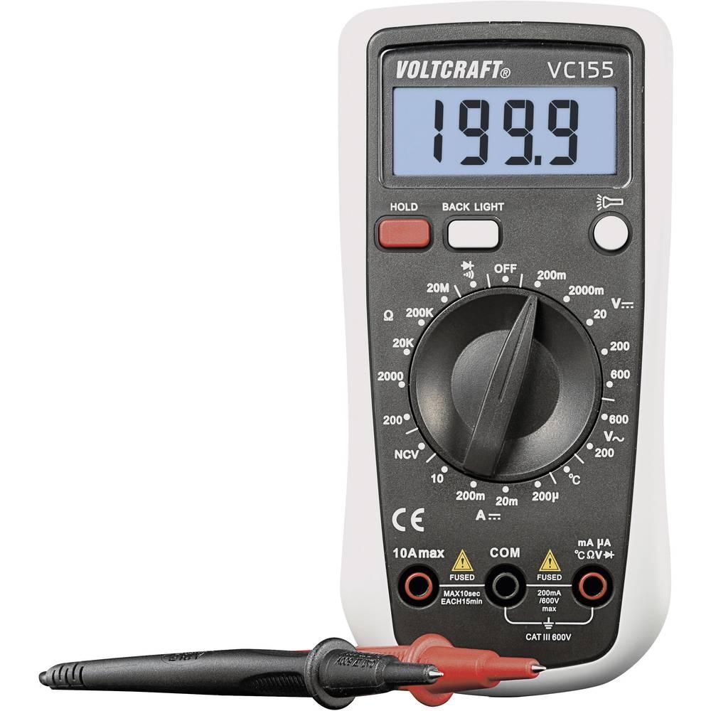 Ročni multimeter, digitalni VOLTCRAFT VC155 kalibracija narejena po: DAkkS CAT III 600 V število znakov na zaslonu: 2000