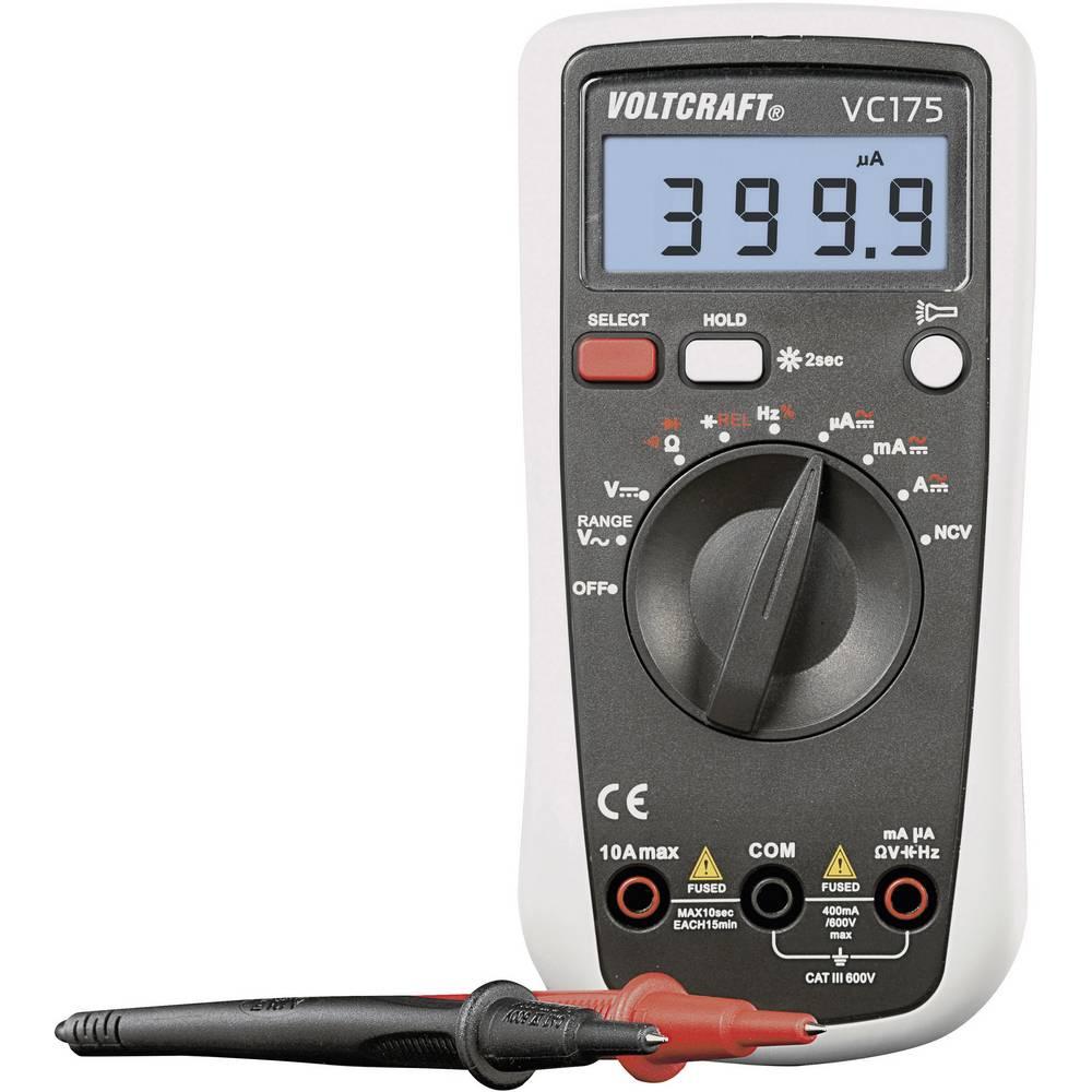 Ročni multimeter, digitalni VOLTCRAFT VC175 kalibracija narejena po: DAkkS CAT III 600 V število znakov na zaslonu: 4000