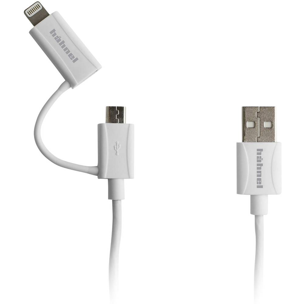 Laddkabel Hähnel Fototechnik 2in1 Micro-USB, Lightning 10006520