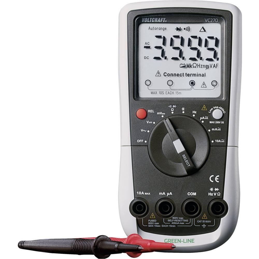 Ročni multimeter, digitalni VOLTCRAFT VC270 kalibracija narejena po: delovnih standardih, CAT III 600 V število znakov na zaslon