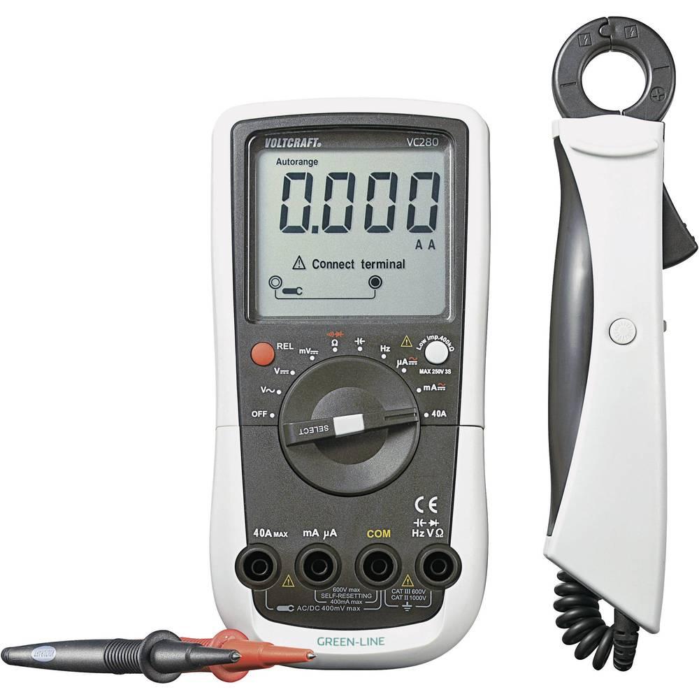 Ročni mulitmeter, tokovne klešče digitalne VOLTCRAFT VC280 kalibracija narejena po: DAkkS CAT III 600 V število znakov na zaslon