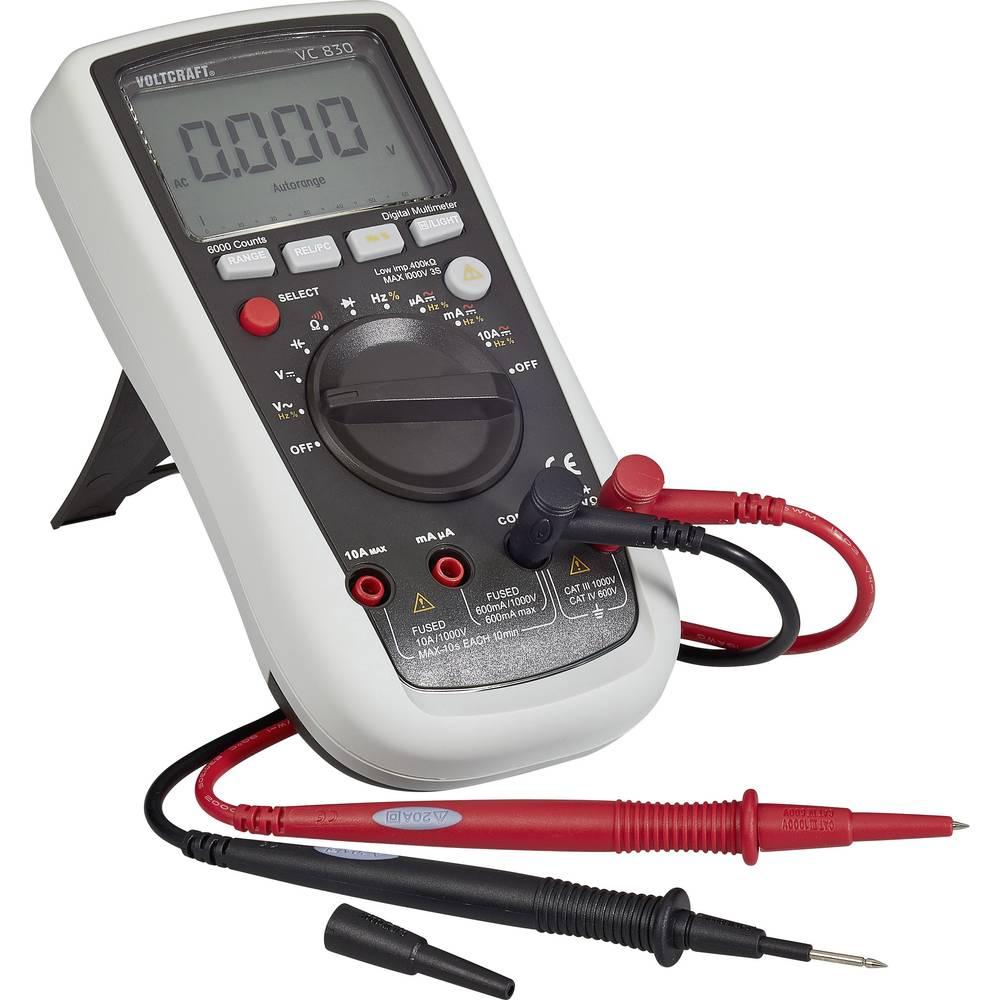 Ročni multimeter, digitalni VOLTCRAFT VC830 kalibracija narejena po: delovnih standardih, CAT III 1000 V, CAT IV 600 V število z